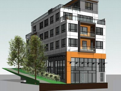 Rendering of future building at 4310 Slocan St.