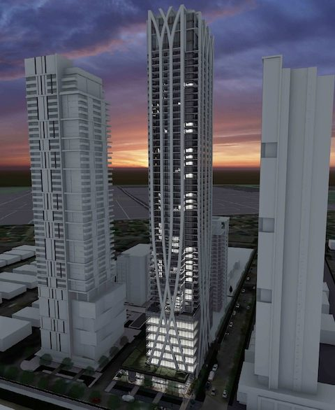 Night time rendering of Beresford tower