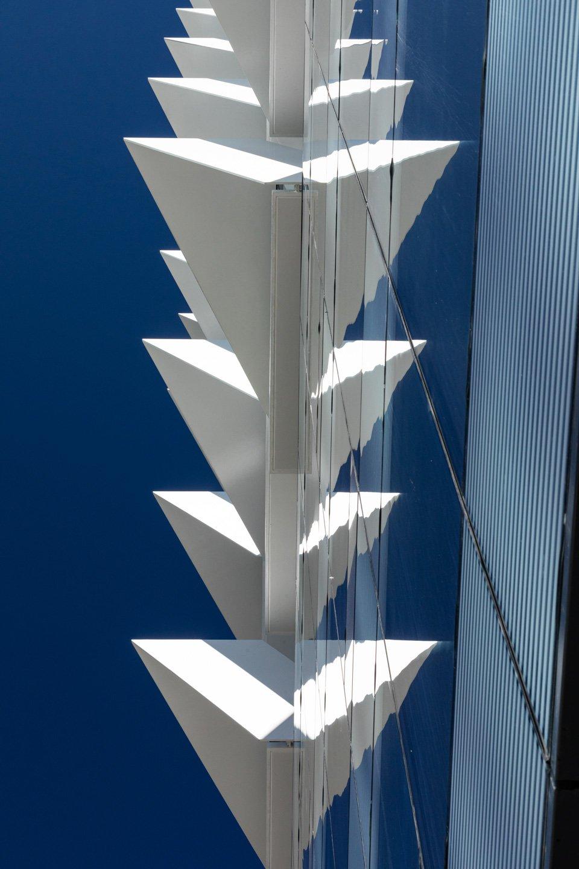 V-shaped white steel
