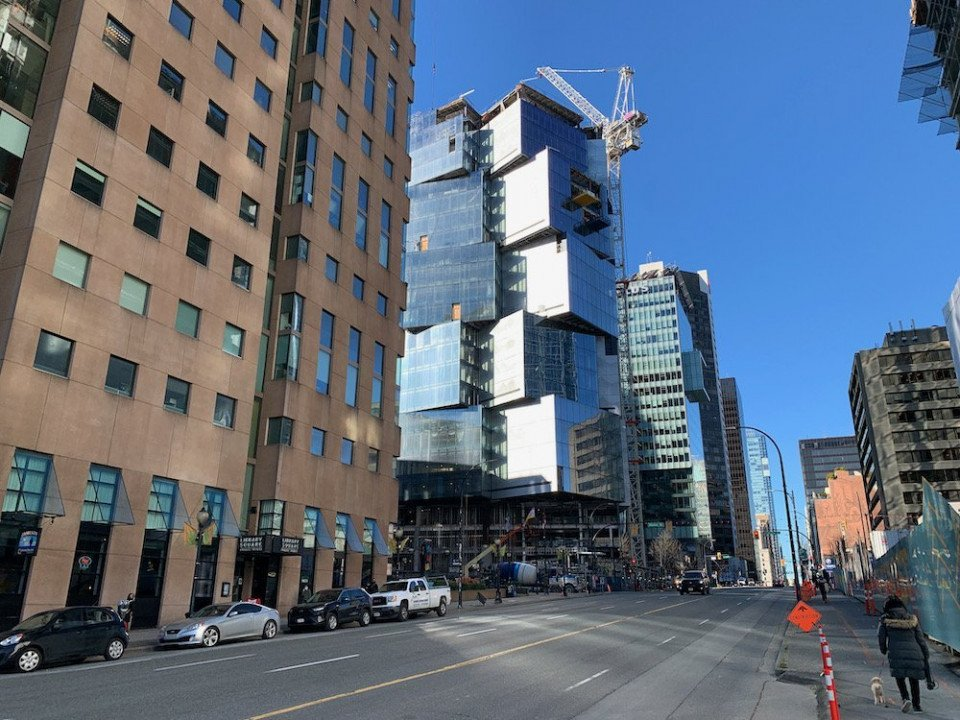 Deloitte Summit tower tops out in downtown Vancouver
