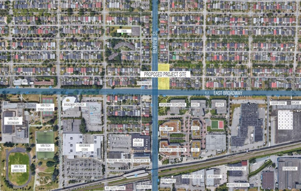 East Broadway Renfrew map