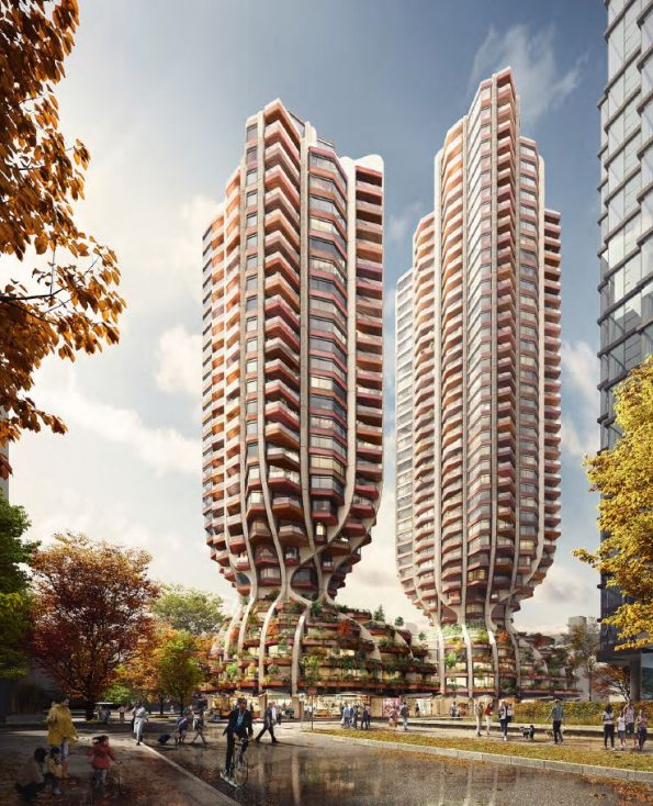Rendering - 1700 Alberni towers