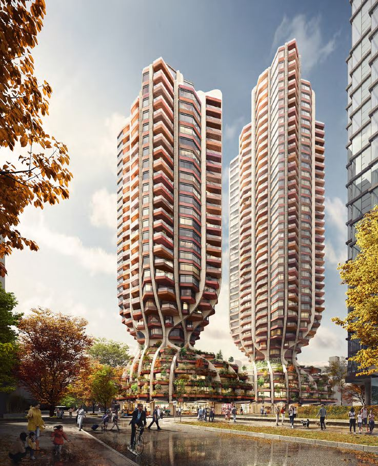 Rendering - 1700 Alberni towers