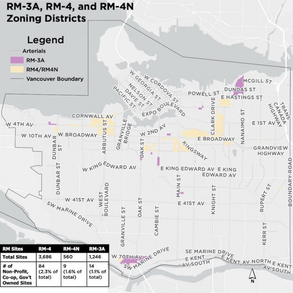 RM-3A, RM-4, and RM-4N Zoning Districts