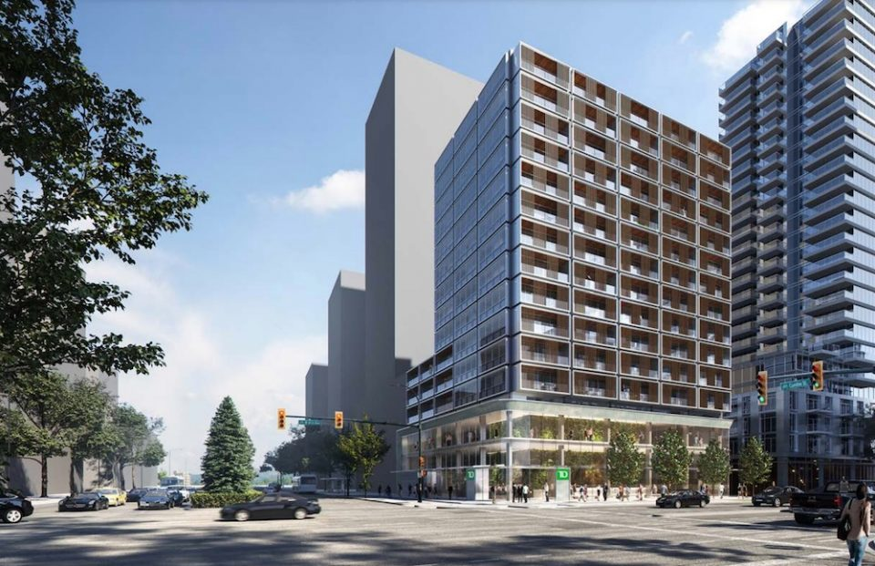Rendering of upcoming development at 495 W 41st Avenue