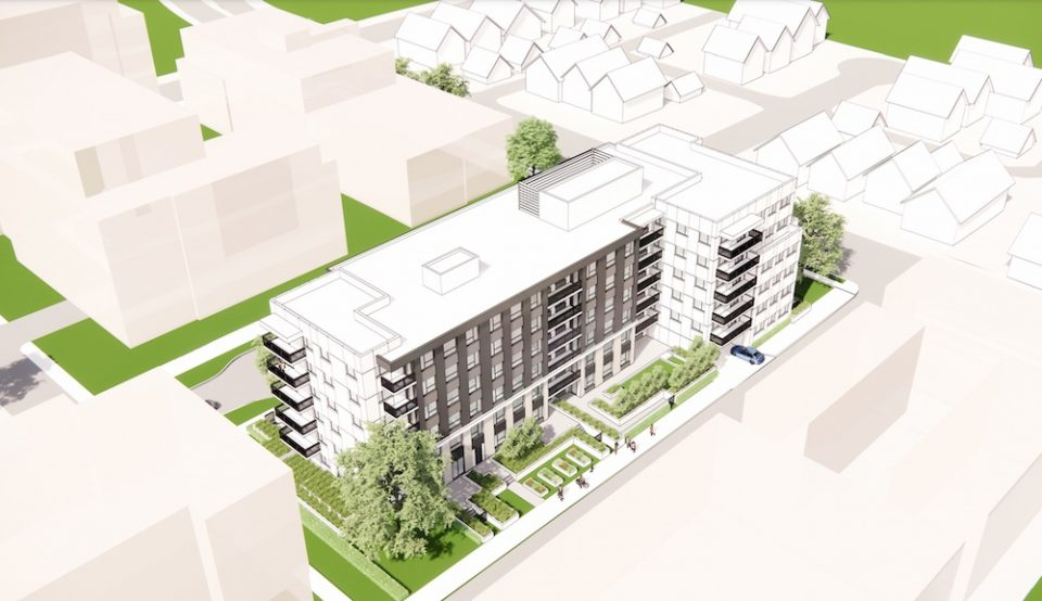 Holborn social housing building rendering