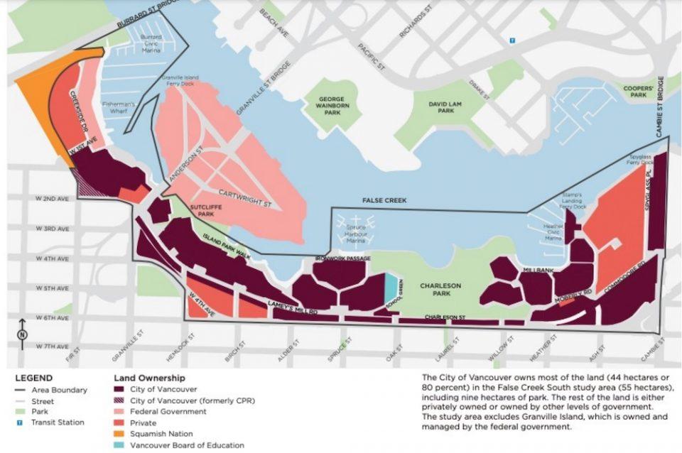 Land ownership False Creek South