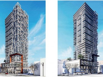 NE and SW elevations of Joyce tower