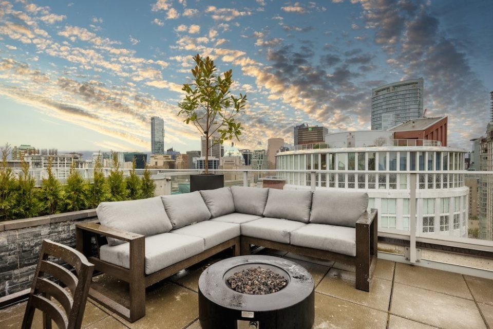 New listing: Chic downtown penthouse with private rooftop patio