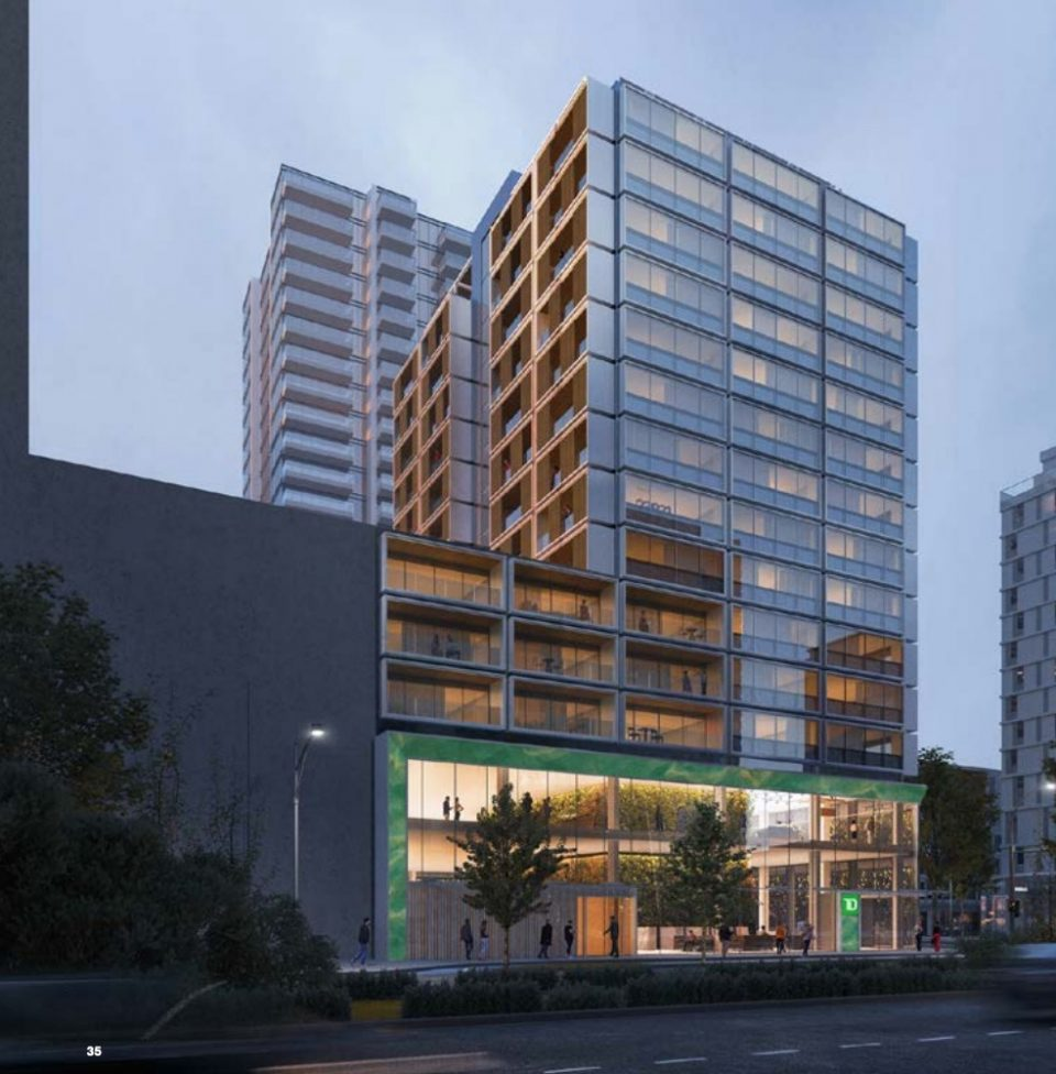 View of west elevation from Cambie Street looking south east
