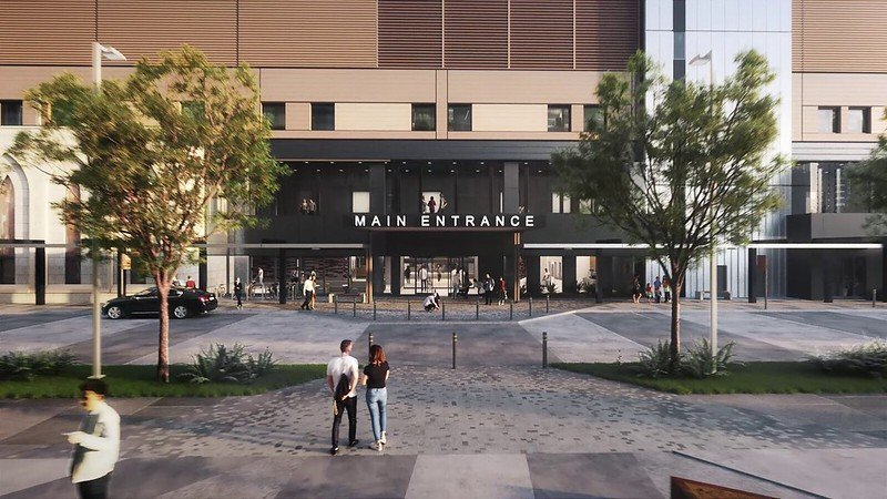 Rendering of main entrance
