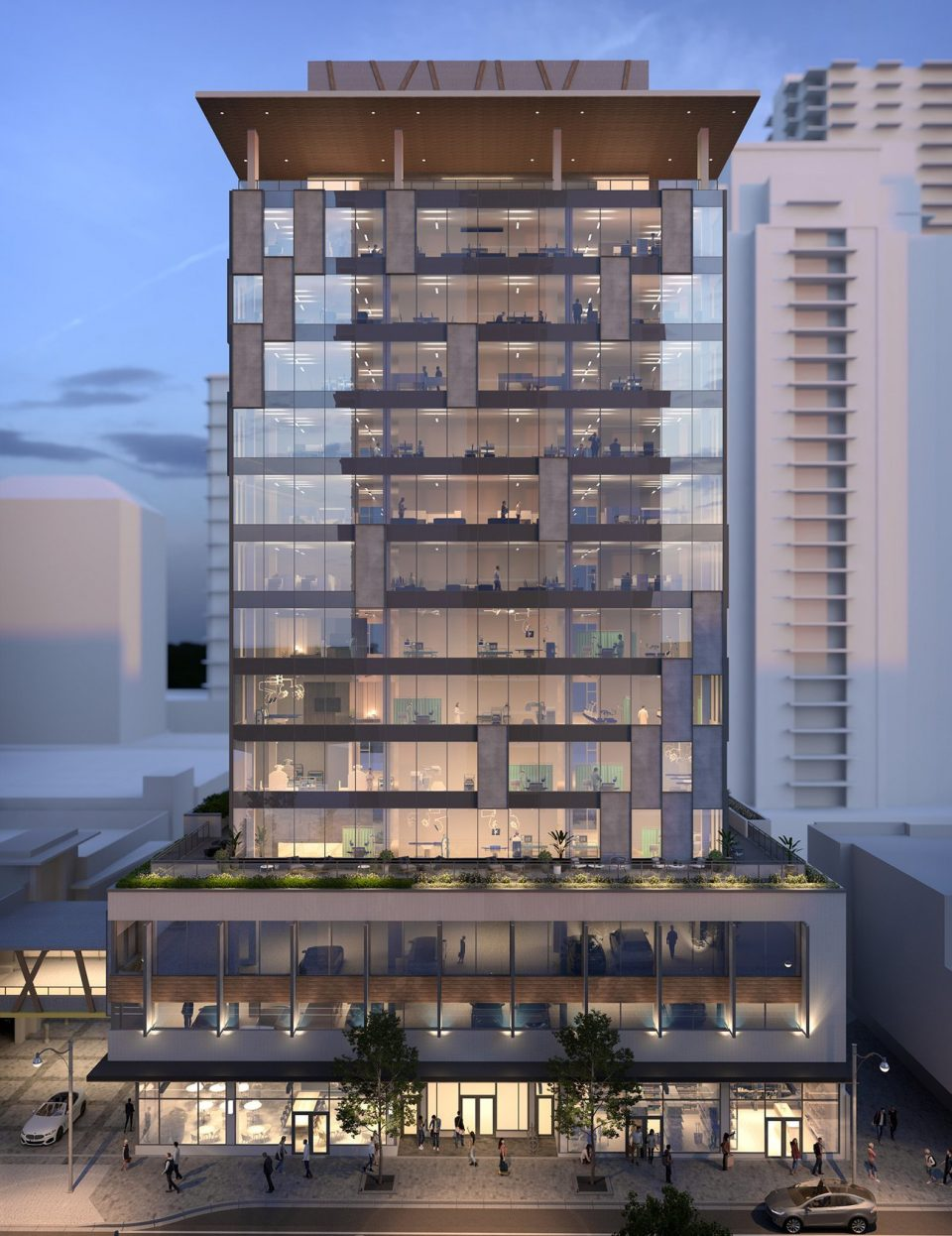 'Diagram by Cressey' 14-storey office tower in Coquitlam