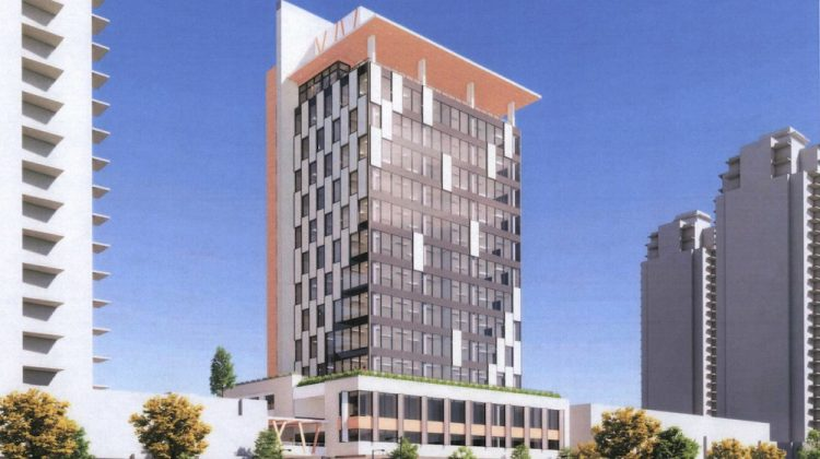 2992 Glen Drive Coquitam office tower rendering