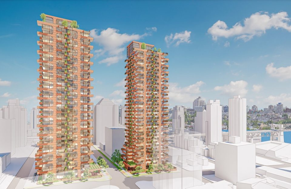 1066-1078 Harwood Street Rezoning Application rendering