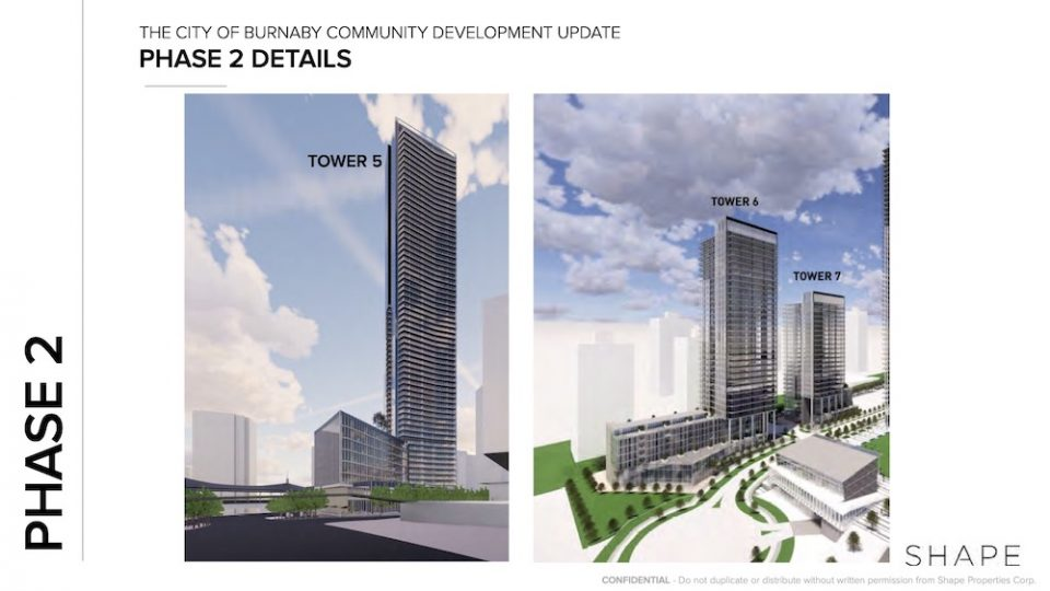 Towers 5, 6 and 7 at The City of Lougheed