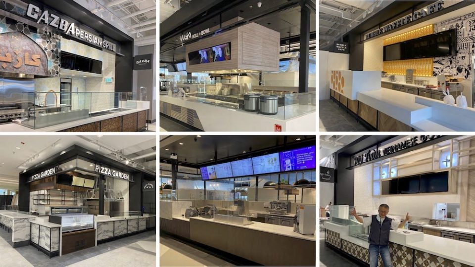 Photos of revamped food court