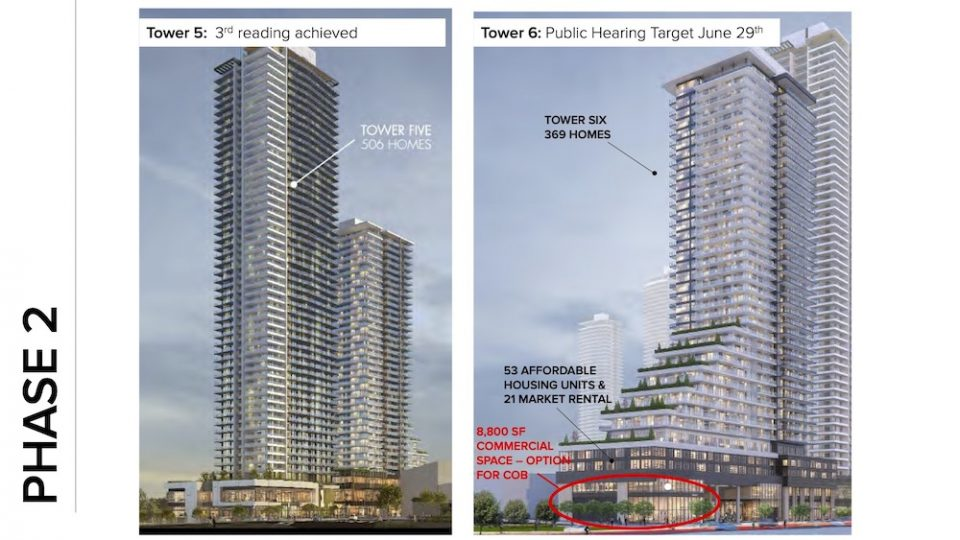Tower 5 and Tower 6 at The Amazing Brentwood