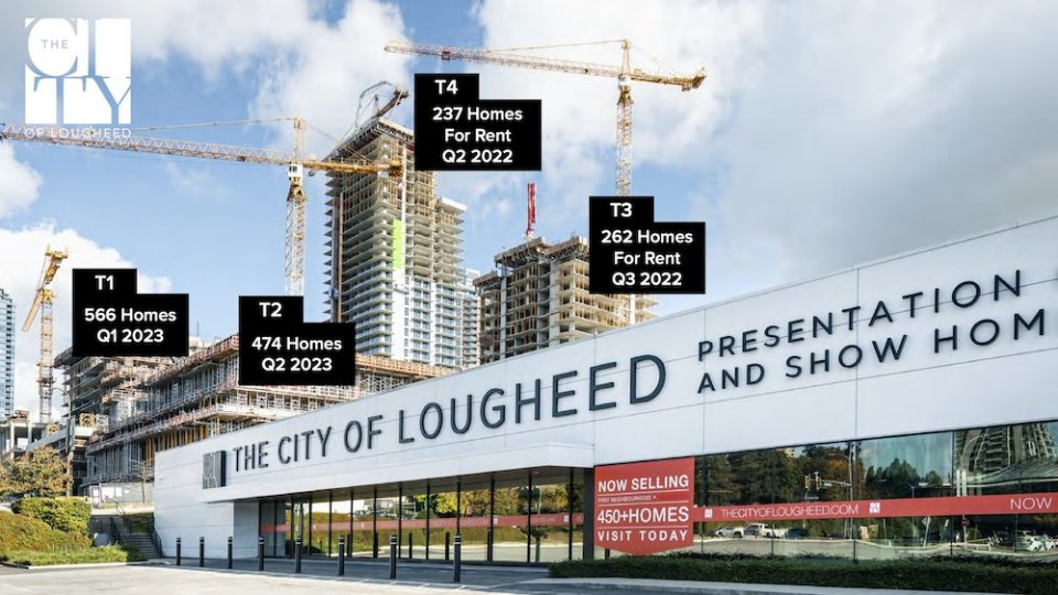 Homes under construction at The City of Lougheed