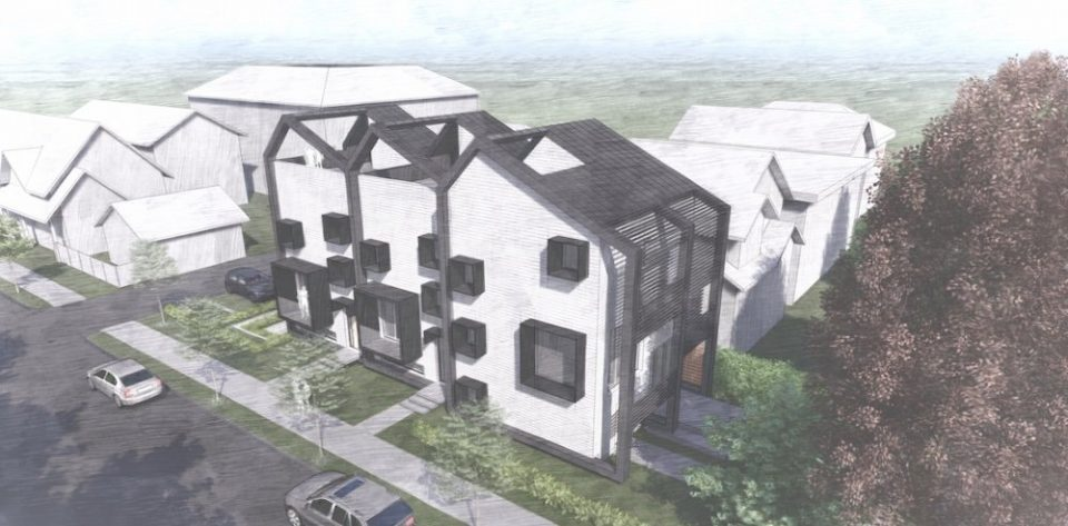 Modern Passive House triplex for East Vancouver lot
