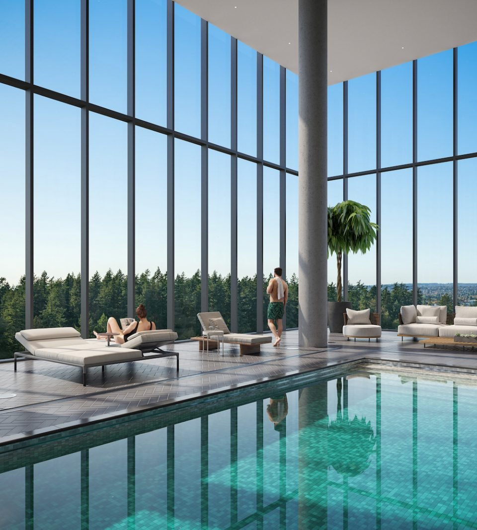 Interior pool at Central Park House