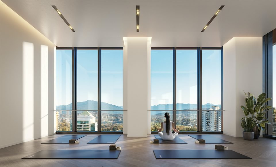 Yoga room at Central Park House