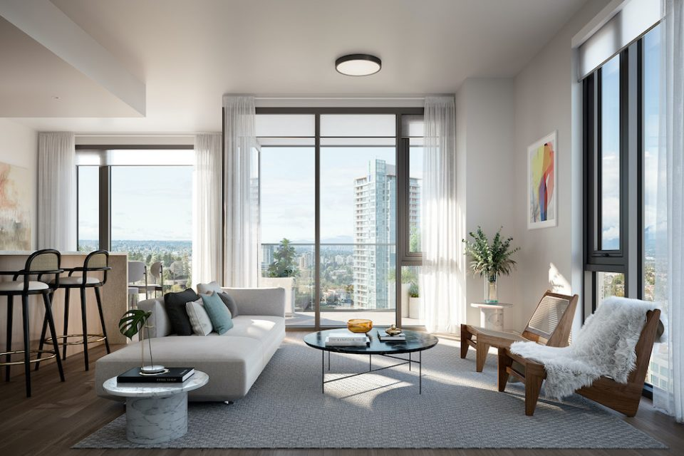 Interior rendering Central Park House