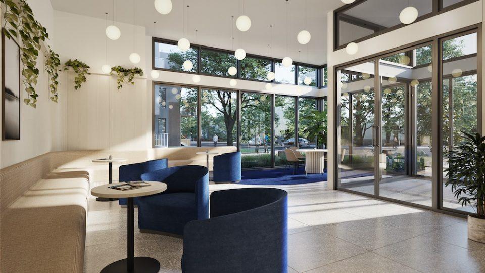 The Saint George lobby area