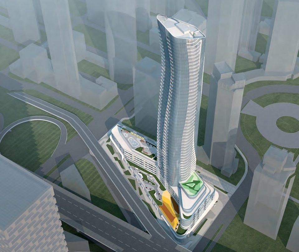 601 Beach tower rendering