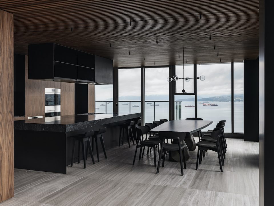 Vancouver House penthouse views of English Bay