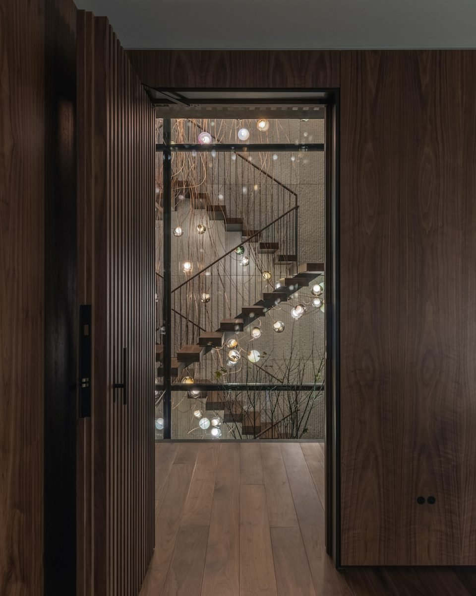 Millwork doors in Vancouver House penthouse