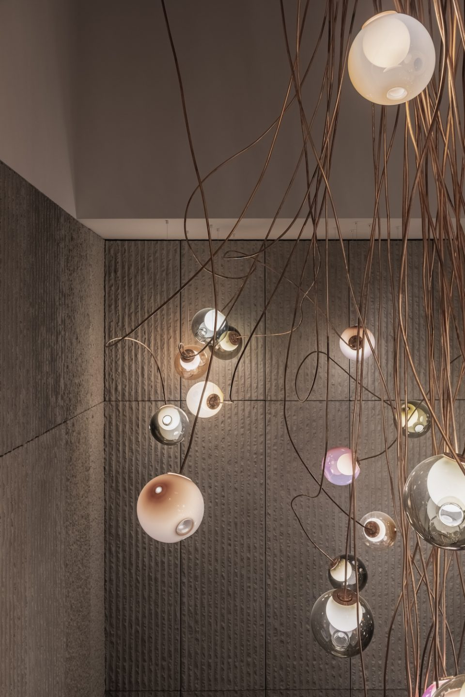 Custom Bocci lighting installation