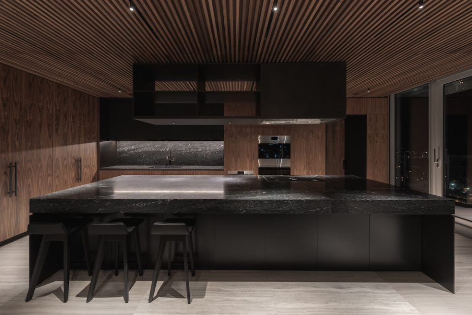 The penthouse kitchen