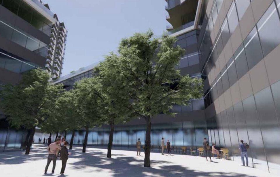 Courtyard rendering