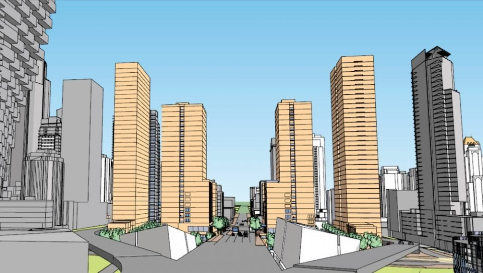 Gateway view of Granville Loops Rezoning Area