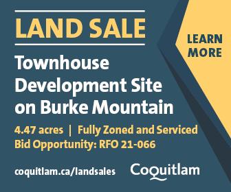 Coquitlam Burke Mountain townhouse site