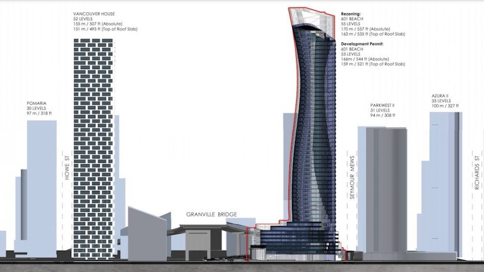 Two storeys cut from upcoming 601 Beach Crescent tower