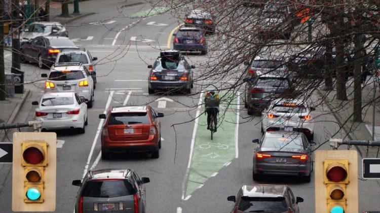 Smithe Street cycling bike lane upgrades