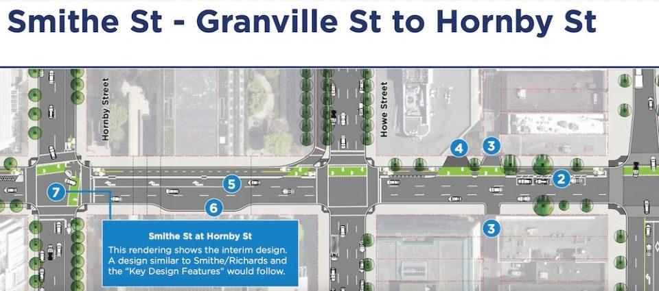 Rendering of upgrades between Granville Street and Hornby Street