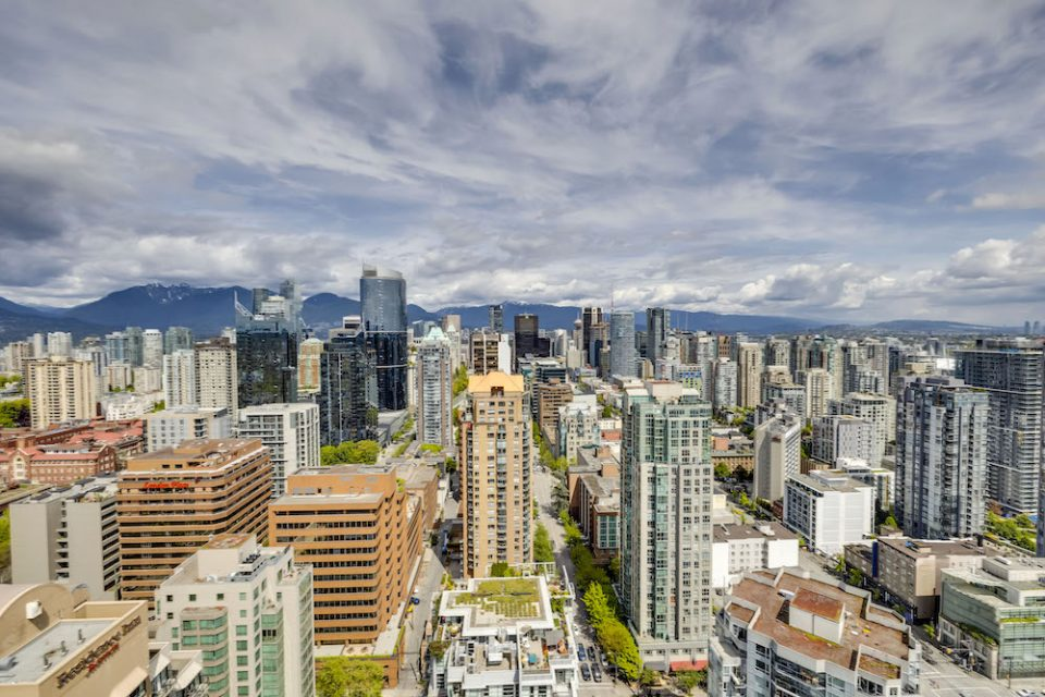 View north over downtown Vancouver