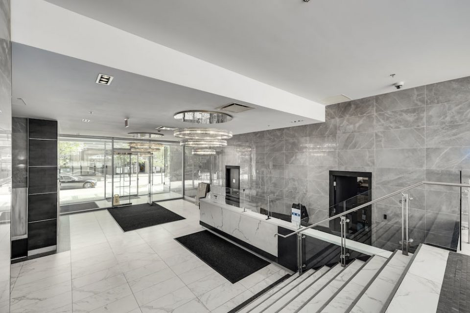 Lobby area of Tate on Howe