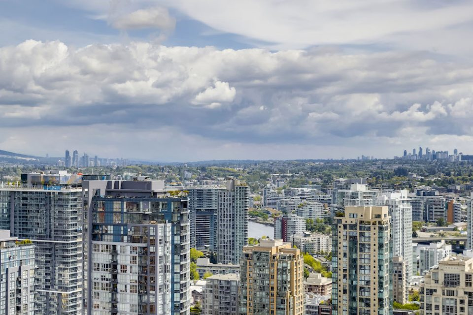 View looking towards Brentwood and Metrotown in Burnaby