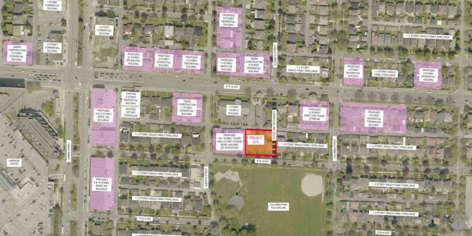 277-291 W 42nd Ave rezoning application