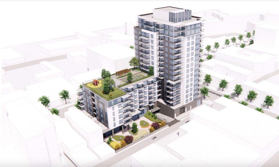 Social housing building rendering - Downtown Eastside