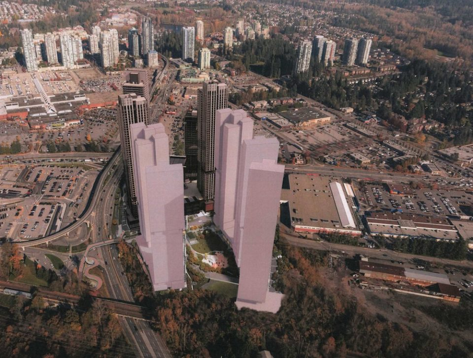 Preliminary rendering of Coquitlam Chrysler site redevelopment