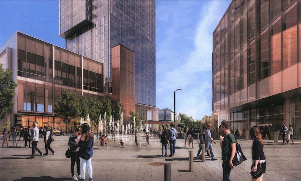 Preliminary rendering of public plaza