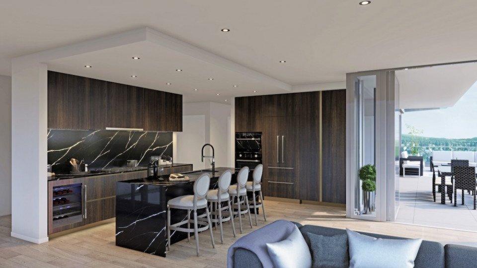 Penthouse in dark colour scheme at Millennium Central Lonsdale.