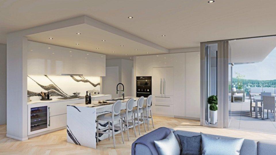 Penthouse in light colour scheme