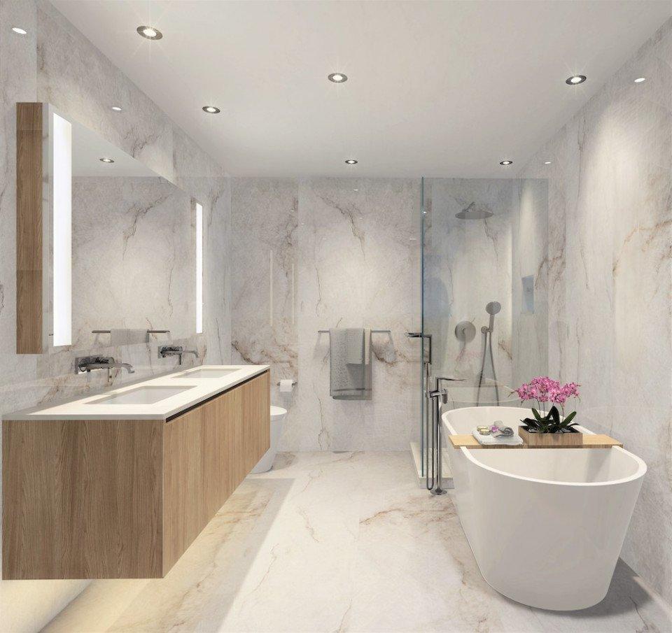 Bathroom in light colour scheme