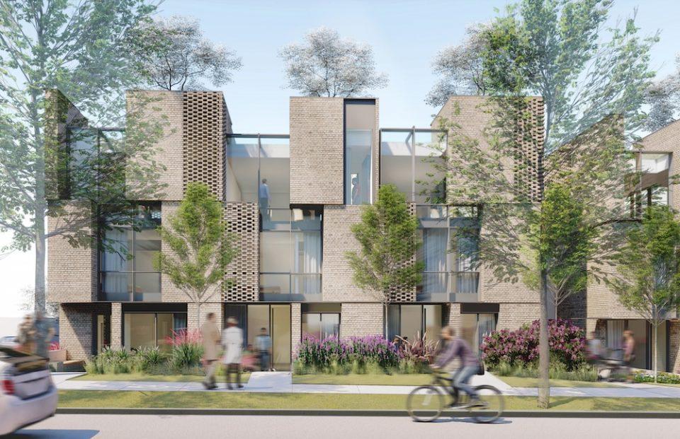 Bloom townhouses rendering
