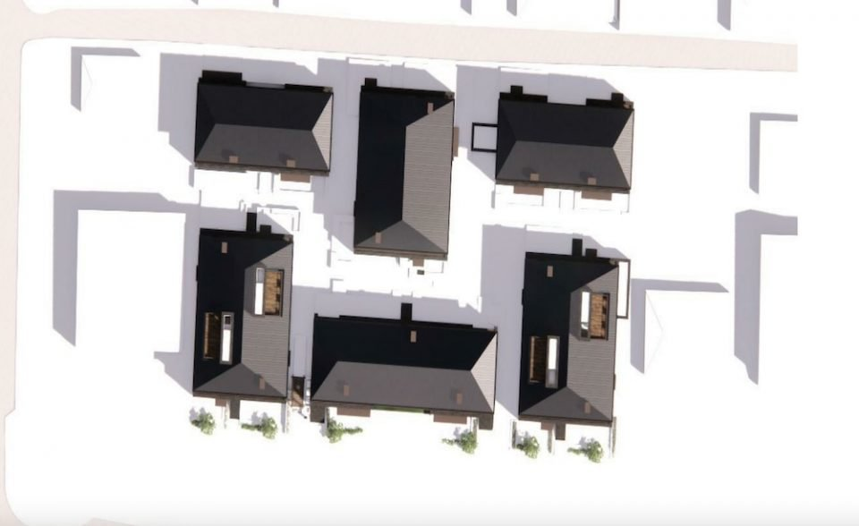 Cambie Corridor townhouses site plan